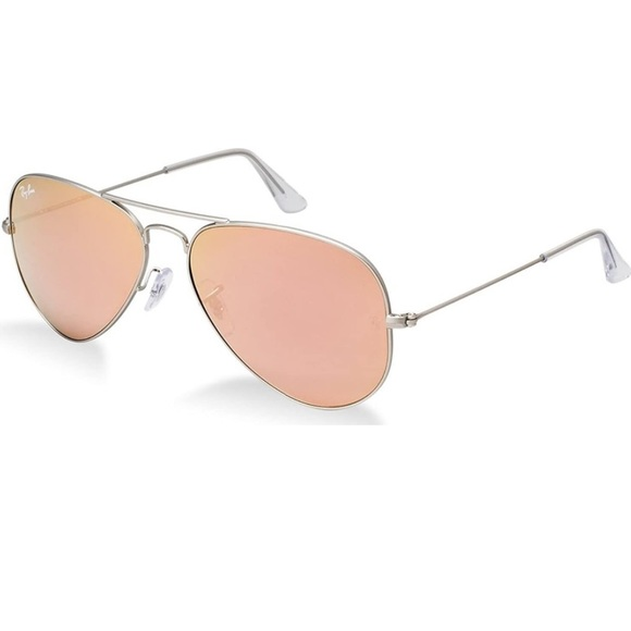 Pink Mirrored Ray Ban Aviator Sunglasses